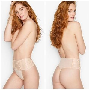 NWT Victoria's Secret L High-Waisted Thong Panties